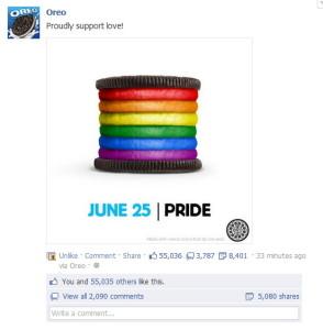 Haz un calendario editorial para publicar los posts de Facebook. Este ejemplo es de Oreo.